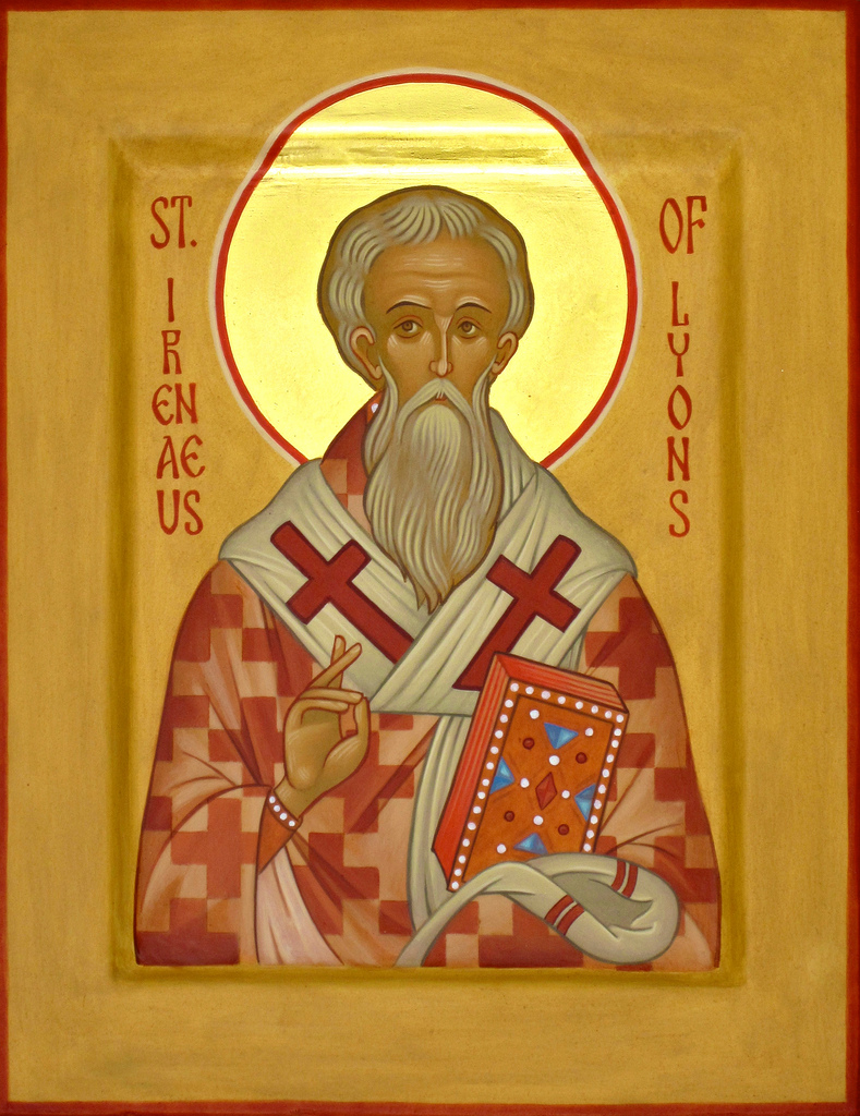 st ireneaus bishop of lyons essay St irenaeus feast day: 28  irenaeus had seen and heard the holy bishop polycarp (d 155) at smyrna during the persecution of marcus aurelius, irenaeus was a priest of the church of lyons .